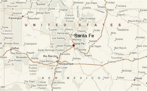 santa fe map santa fe new mexico location guide