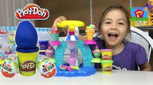 How to make ice cream play doh surprise egg kinder surprise eggs toys