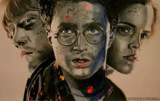 harry potter weasley and hermione granger by
