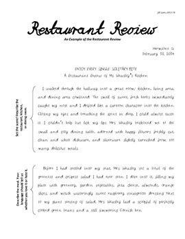 restaurant review engaging persuasive writing unitproject  lyon