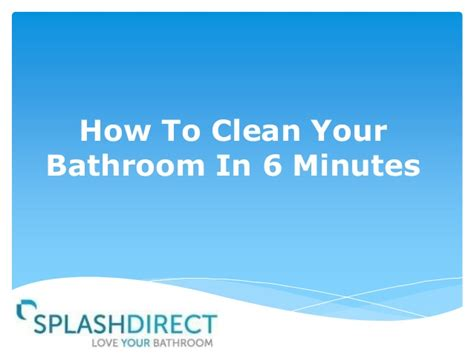 how to clean your bathtub how to clean your bathroom in 6 minutes