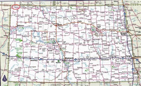nd road map take the highway dakota the back side of fifty