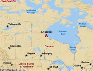map churchill canada churchill canada map