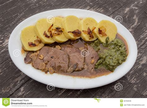 Czech Or German Food (cuisine). Stock Photo   Image: 42794546