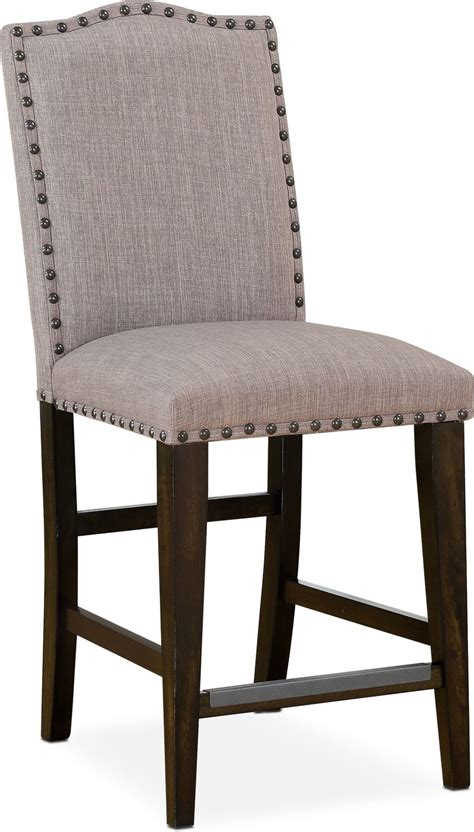 upholstered counter stools hton counter height upholstered stool cocoa