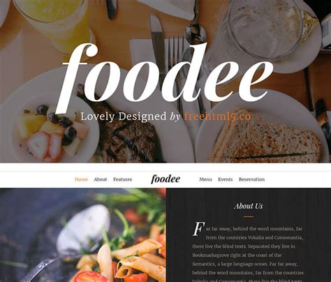 free bootstrap templates for online food order free bootstrap template for restaurant website online