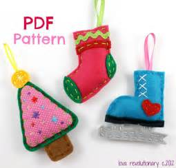 felt christmas ornament patterns by lovahandmade craftsy