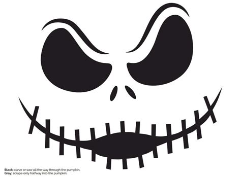 skellington template skellington pumpkin stencil free crafts