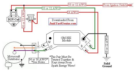 chevy hei distributor module wiring diagram get free