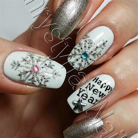 new year nails 21 exciting ideas for new years nails to warm up your