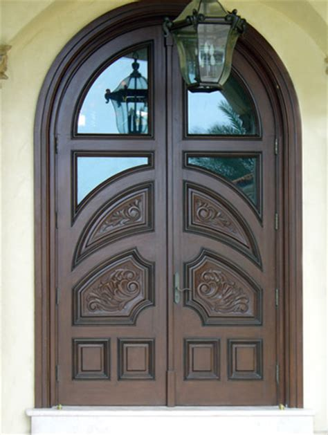Carved Front Doors Mahogany Carved Wood Doors Tropical Front Doors By Decodesigncenter