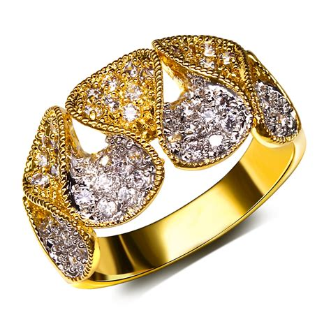 fashion jewelry luxury rings with cubic zircon finger ring