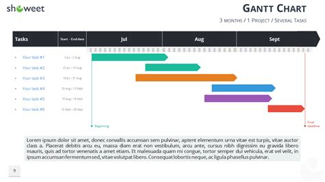project calendar template 2 gantt charts and project timelines for powerpoint