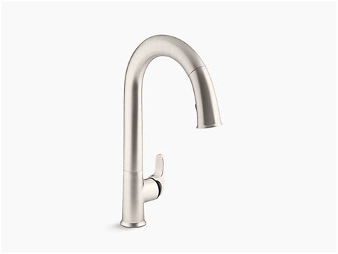 sensate touchless kitchen faucet k 72218 b7 sensate touchless pull kitchen sink