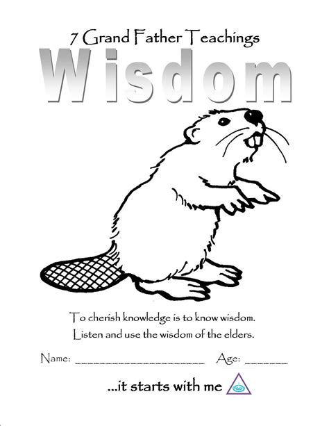 color of wisdom wisdom color page wood badge beavers