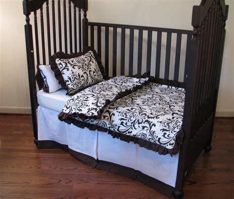 One Haute Kid Gender Nuetral Brown White Nursery Bedding Brown And White Crib Bedding