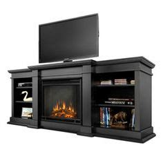 Bjs Electric Fireplace Tv Stand by Real Fresno Walnut Entertainment Center