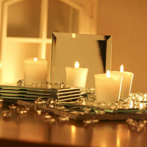 Square Glass Beveled Mirrors Centerpiece Mirrors Party Glass Mirrors For Centerpieces