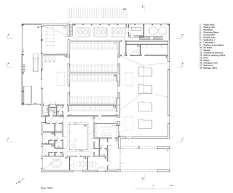 crematorium floor plan the new crematorium the woodland cemetery johan celsing