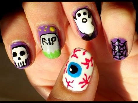 imagenes de uñas pintadas para halloween u 241 as halloween 1 halloween nails 1 youtube