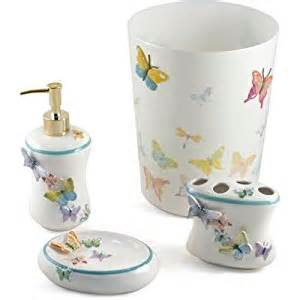 butterfly bathroom accessories fluttering butterflies 5 bathroom accessory set kitchen dining