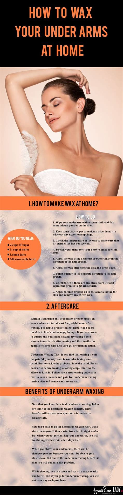 how to wax your underarms at home