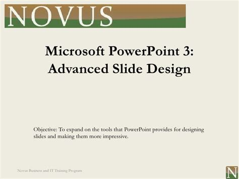powerpoint design lessons powerpoint lesson 3 advanced slide design