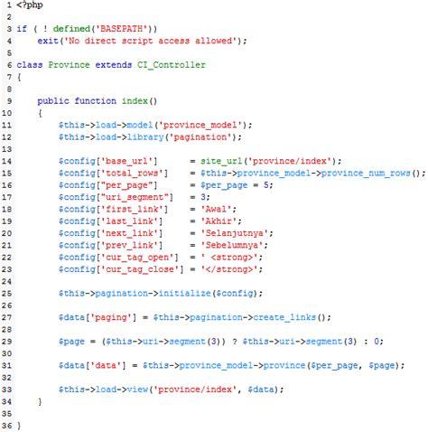 membuat query di codeigniter membuat paging di codeigniter