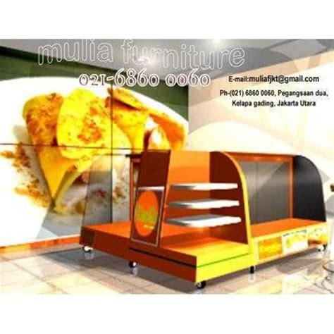 Etalase Meja Display jual cafe etalase makanan roti kue food display