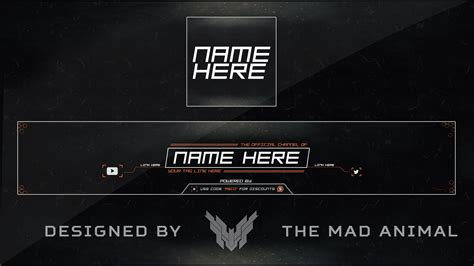 free youtube banner avatar rev rebrand template 3