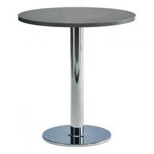 table de cuisine ronde 75cm stratifi 233 e pied central