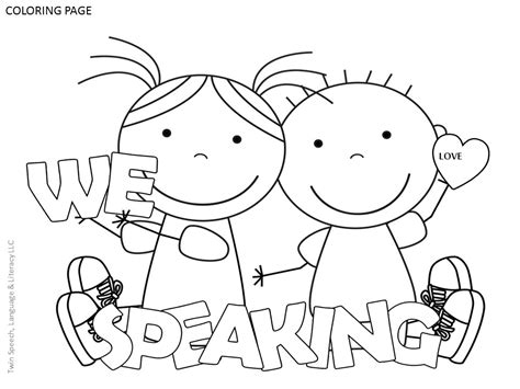 free speech therapy door signs coloring pages twin