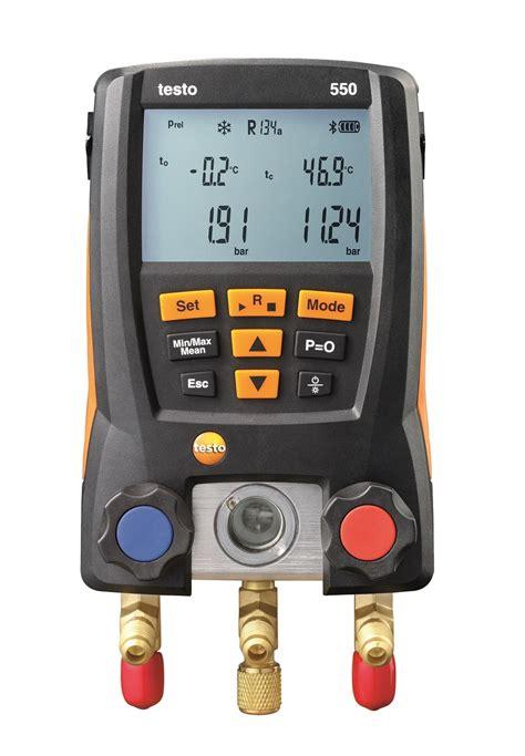 testo in testo 550 digital refrigeration manifold with bluetooth