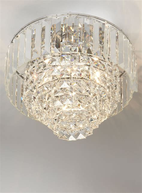chrome paladina flush ceiling lights lighting