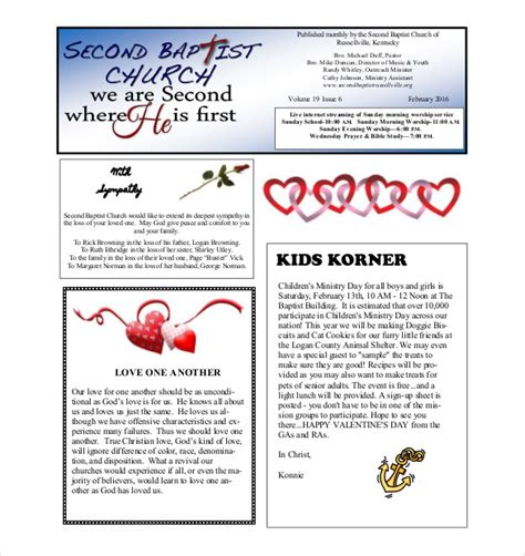 newsletter layout pdf monthly newsletter template 10 psd pdf documents