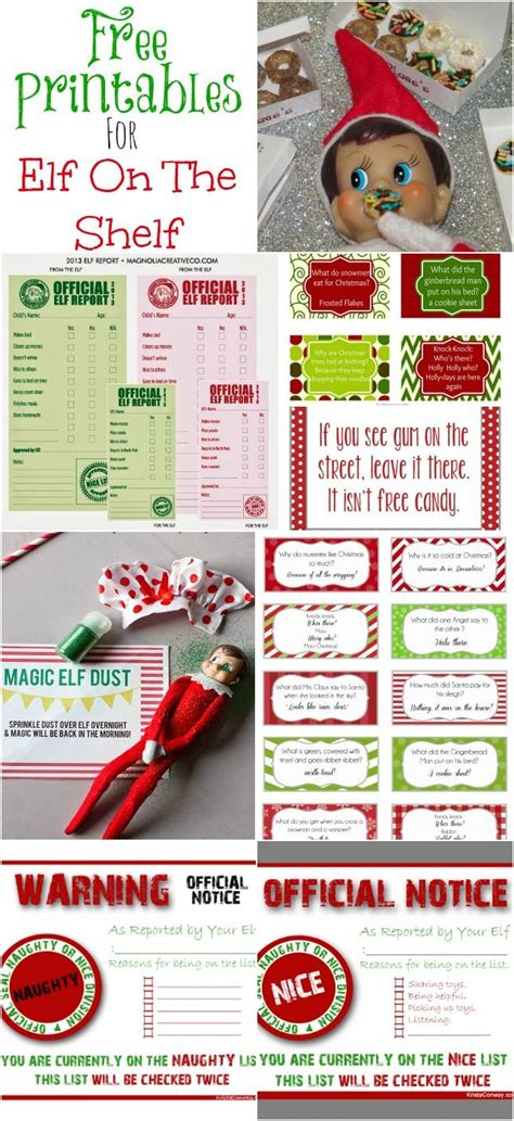 elf on the shelf introduction printables elf on the shelf printables freebies