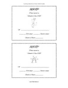 Wedding Rsvp Cards Template Free by Rsvp Card Template Free Printable Allfreeprintable
