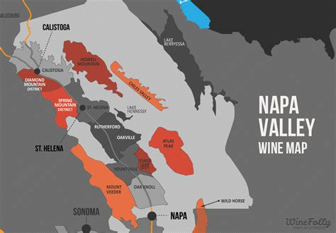 napa valley winery map a simple guide to napa wine map wine folly