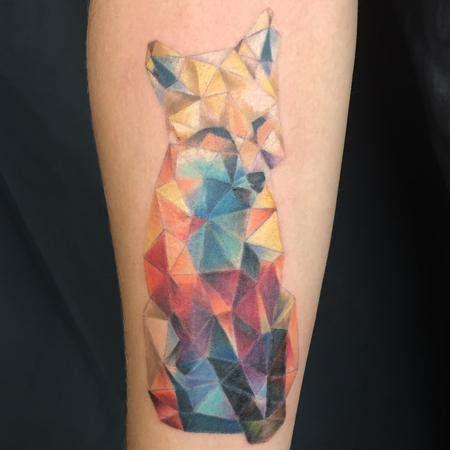 geo wolf by pineapple : tattoonow