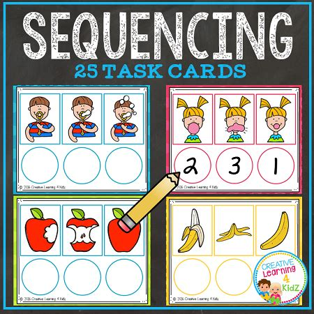 picture cards sequencing task cards digital