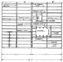 wood floor framing plan framing plan