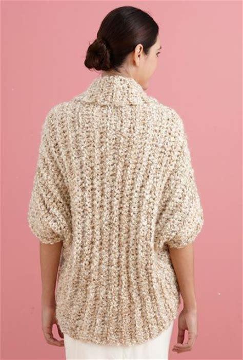lionbrand pattern finder free crochet pattern l20507b simple crochet shrug lion