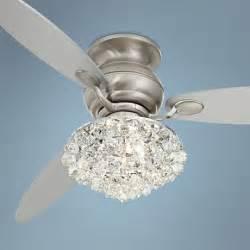 white chandelier fan 60 quot spyder brushed steel hugger ceiling fan