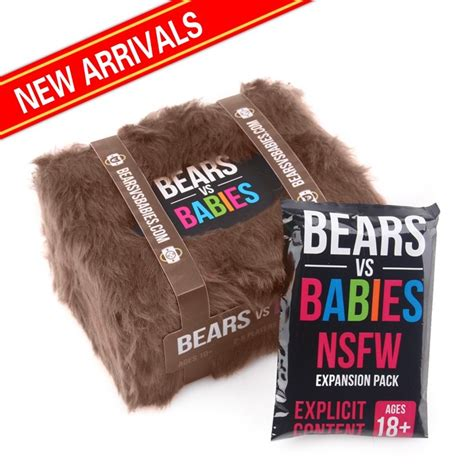 Bears Vs Babies Nsfw Expansion new bears vs babies card nsfw expansion pack