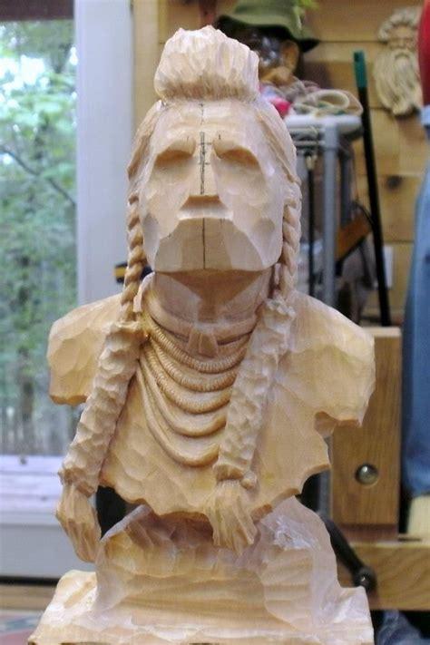 western carvings cowboys native americans