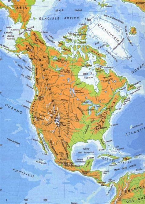 Search America La Cartina Geografica Dell America Nord E Centro Fisica