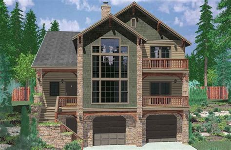 hillside house plans with walkout basement awesome sloping