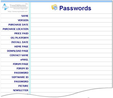 password template templates treedbnotes templates free and pro