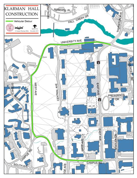 cornell cus map east avenue to to through traffic jan 8 cornell chronicle