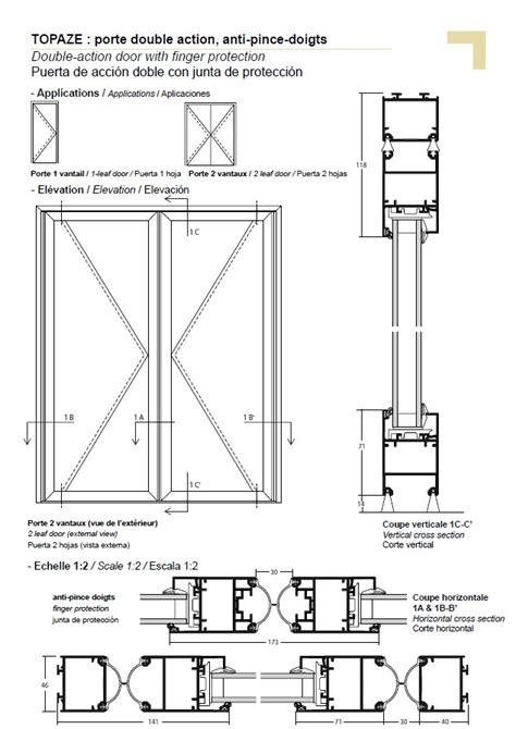 door section pb double action door with finger protection